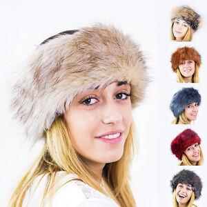 Futrzane Ladies Faux Fake Fur Hat HeadBand Winter Earwarmer Hat Ski ... 0058bf87a7e