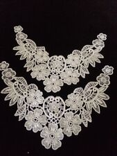 Chemical Lace Trim 80s 90s Crafters Bridal Wedding Appliqués Snowy White