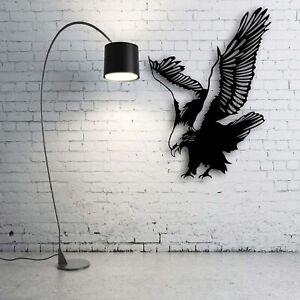 Wandkunst aus Metall 2mm aus Stahl Wandbilder Bilder 3D Dekoration Adler Eagle