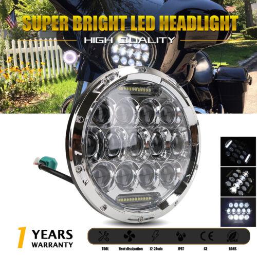1P 7inch 105W LED Round Headlight H4 DRL Hi//Lo Beam For Jeep Wrangler CJ JK TJ