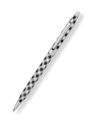 Cross Century Black Gingham Ballpoint Pen New In Box  AT0082-66  Retired Pen
