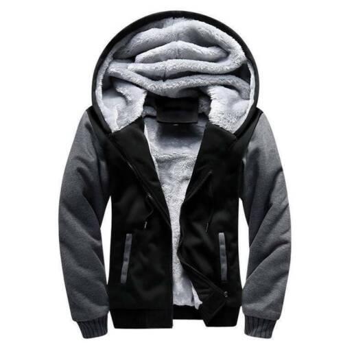 Plus Size Mens Winter Warm Fleece Coats Jackets Thicken Hoodie Parka Overcoat US