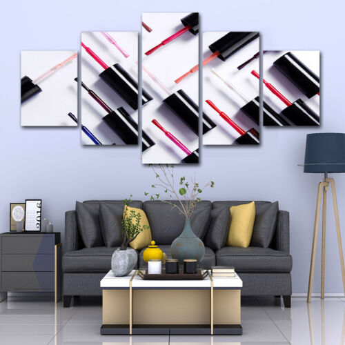 Nail Polish Abstract Salon 5 piece HD Art Poster Wall Home Decor Canvas Print