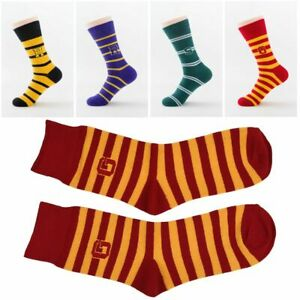 Chaussettes-Doublure-Harry-Potter-Chaussettes-a-rayures-Chaussettes-mi-mollet