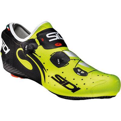 NUOVA STRADA IN CARBONIO FILO SIDI Bici Ciclismo Scarpe Giallo Fluo Nero US Warehouse | eBay