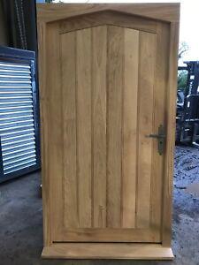 huge selection of 6be73 0d356 Details about Handcrafted Solid European Oak External Door & Frame Set  1125mm X 2090mm