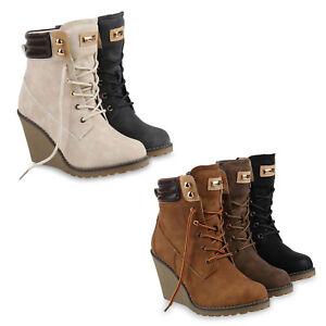 low priced c8f20 e0650 Details zu Modische Damen Stiefeletten Keilabsatz Boots Profilsohle 814157  Schuhe