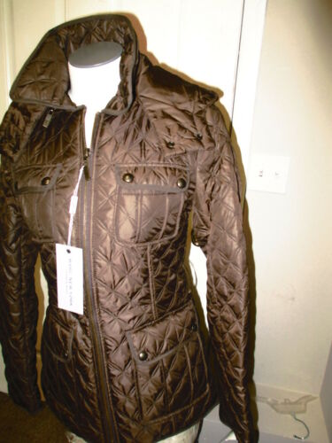 Andrew Marc Quest Quilt Brown Jacket NWT MISSING BELT