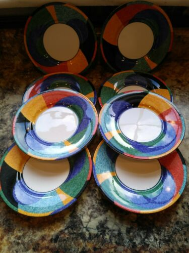 Set of 8 Victoria /& Beale ACCENT Saucers//bread plate Bin 1055