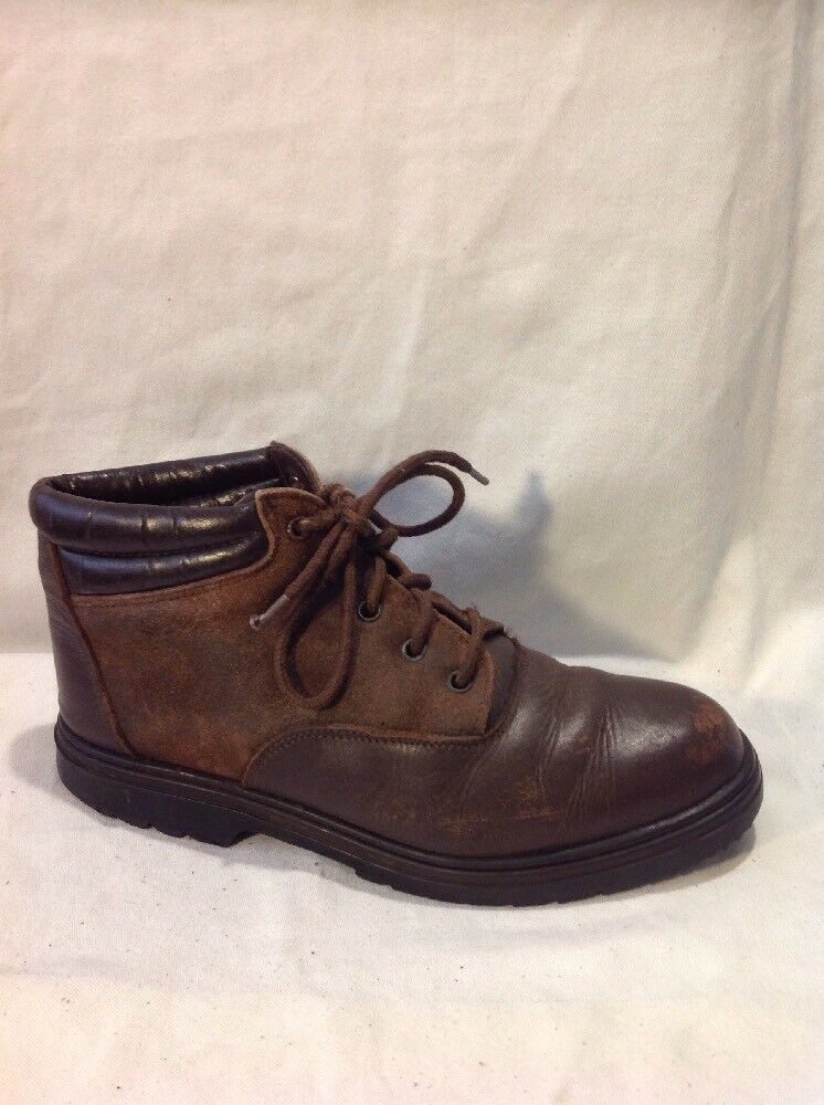 DRAK Brown Ankle Leather Boots Size 36