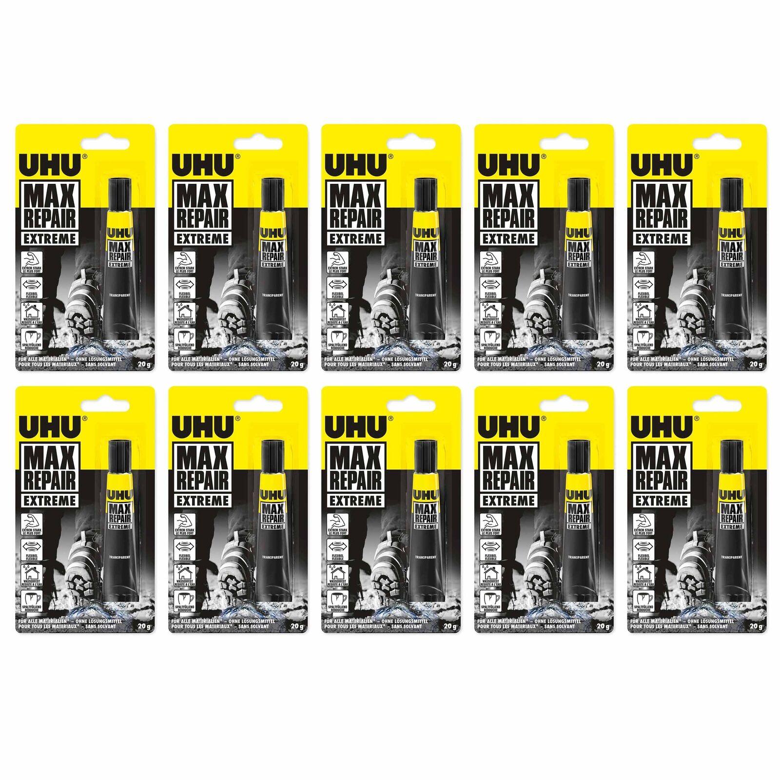 10 x UHU MAX Repair EXTREME 10 x 20g für alle Materialien