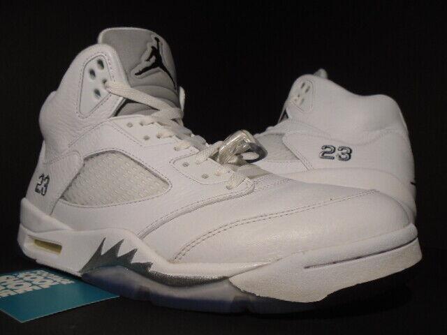 quality design b05f9 b21c4 Air Jordan 5 Retro White Metallic Size 12 Worn Great Black Supreme for sale  online   eBay