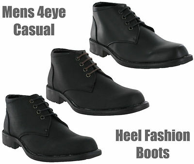 100% Wahr Casual Formal Fashion Black Brown Soft Ankle Dress Mens Boots Size 7-12 Uk Profitieren Sie Klein