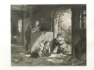 Zielstrebig 1 Original Stahlst.aus Paynes Meyerheim Bauernfamilie Im Vorhof Antiquitäten & Kunst Bauer