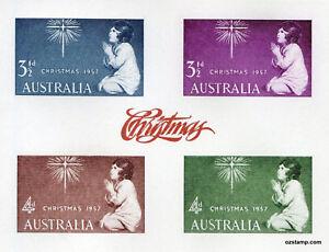 Australia-Replica-Card-7-1957-Christmas-Stamps-Die-Proof