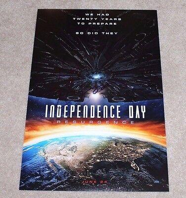 Autographs-original Jeff Goldblum Signed Independence Day Resurgence 12x18 Movie Poster Photo W/coa