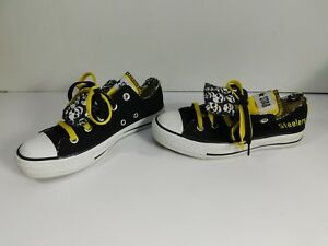 Details about RARE PITTSBURGH STEELERS CONVERSE CHUCK TAYLOR DOUBLE TONGUE SNEAKERS 4 M~6 W