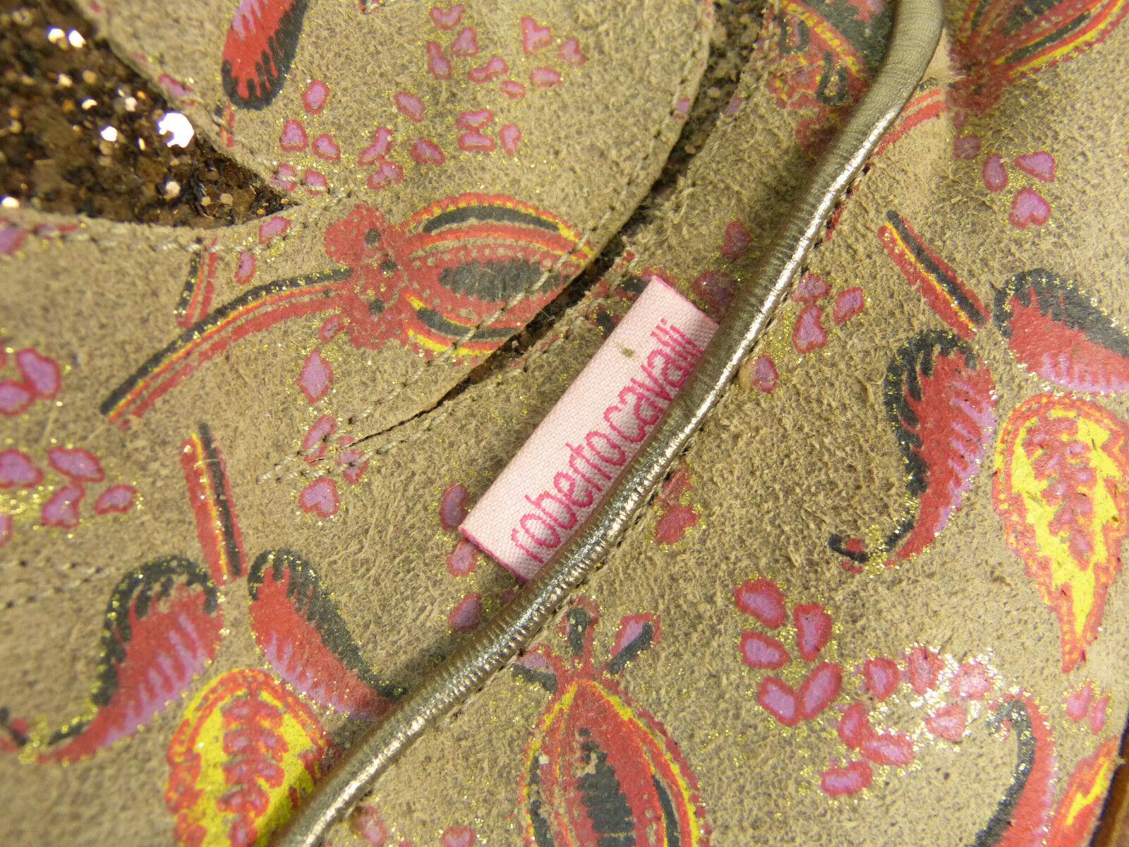 Roberto cavalli cuero botas /de lujo pur & 100% cuero (l 9033)