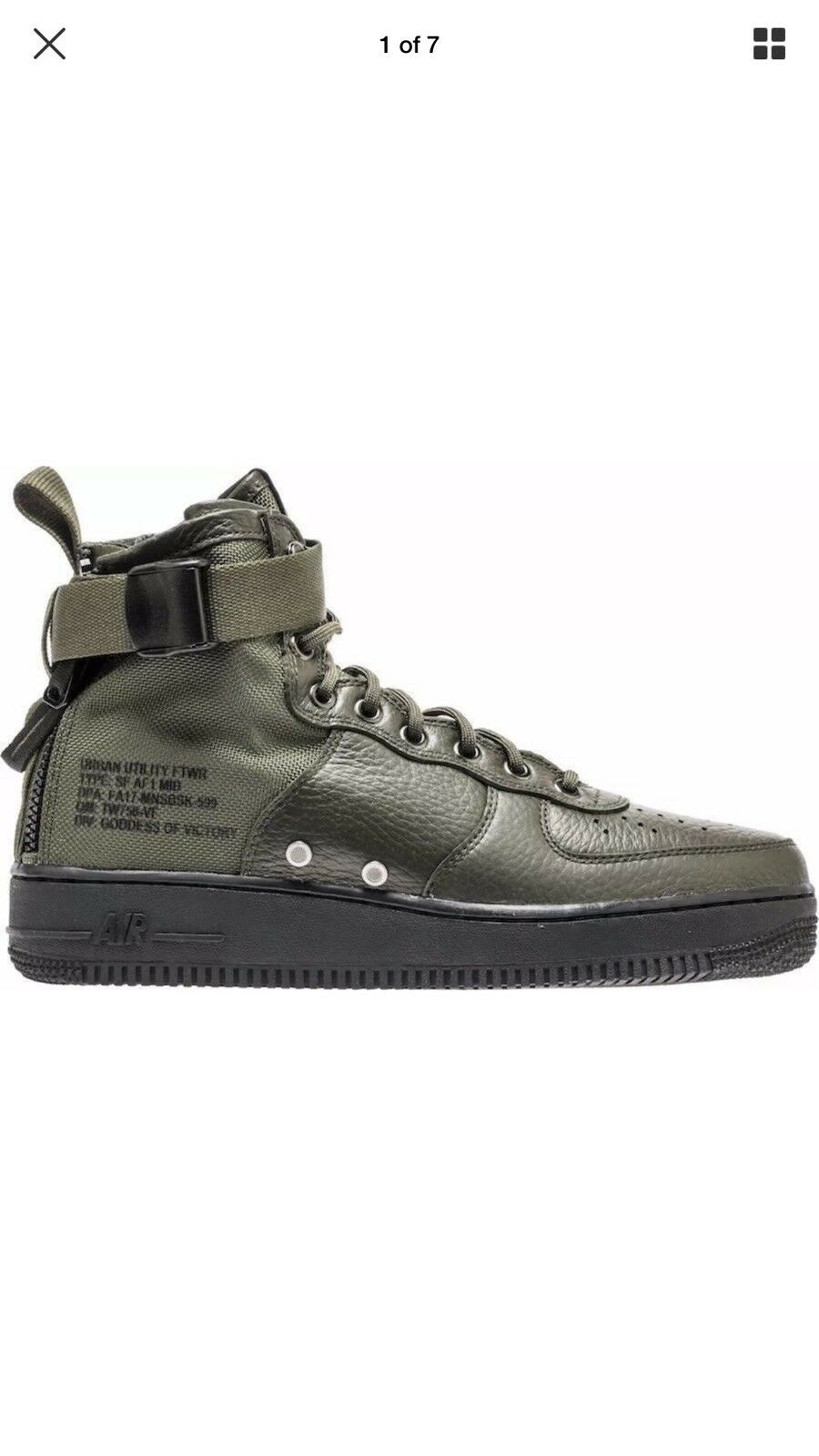 Nike Air Black Force 1 SF AF1 Mid Sequoia Black Air Green Special Field 69f8bc