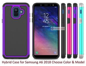 Shockproof Hybrid Hard Rugged Rubber TPU Slim Case For Samsung Galaxy A6 2018