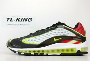 6b3a818cf7 Nike Air Max Deluxe Black Volt Habanero Red White AJ7831-003 Msrp ...
