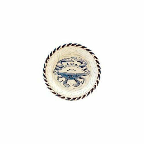 bluee Crab Bay Co. 7  Dessert Bread Plate Set of 4