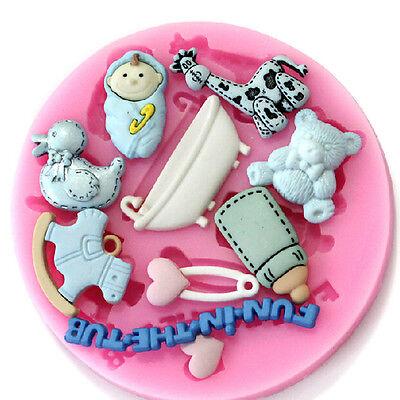 Baby Bottles Fondant Cake Decorating Mold Silicone Mold Handmade Tool DIY Craft