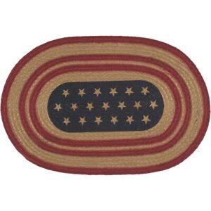 1-Placemat-Liberty-Flag-Americana-w-Stars-Table-Mat-12-034-x18-034-VHC-Primitive