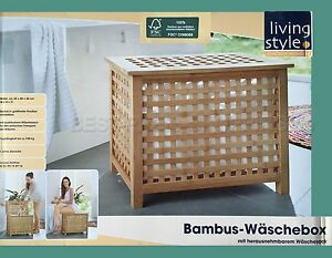 bambus w schebox bambusholz fsc mit herausnehmbarem. Black Bedroom Furniture Sets. Home Design Ideas