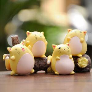 4-Pieces-Cartoon-Kitty-Miniature-Decoration-Toys-Dolls-House-Handmade-1-12-Scale