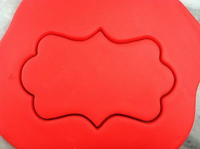Plaque #3 Cookie Cutter CHOOSE YOUR OWN SIZE!