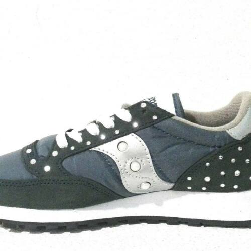Saucony Jazz Blu Navy Silver Strass e Perle Personalizzate