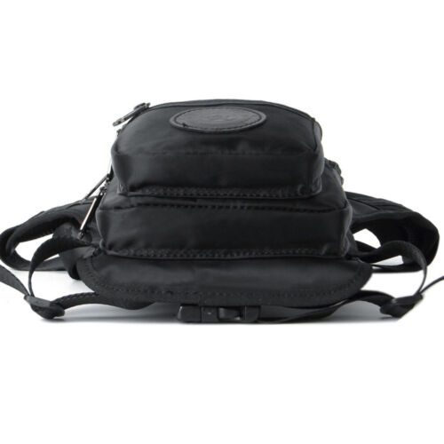 Men Waterproof Nylon Leg Bag Waist Fanny Pack Drop Belt Messenger Shoulder Bags