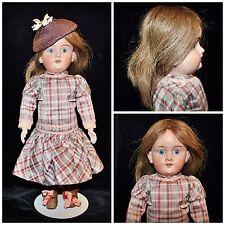 "Rare KLEY&HAHN German K&H #250 WALKURE Doll 14"" Human Hair Compo Jointed Body"