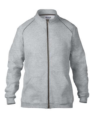 New Premium Cotton Full Zip Sweatshirt Gildan Sweat Size L RRP £18.95