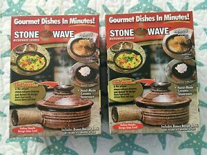 Stone Wave Microwave Cooker As Seen On Tv Ceramic Stoneware Bonus Recipe Book For Sale Online Ebay