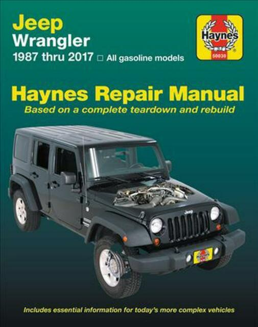 HAYNES AUTOMOTIVE REPAIR MANUAL JEEP 1987-2017 WRANGLER YJ TJ JK  Book sp