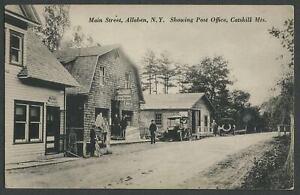 Shandaken Ulster Co. NY: c.1910s Postcard MAIN ST. ALLABEN SHOWING POST OFFICE