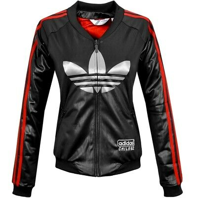 Adidas Chile62 Damen Jacke Trainingsjacke Übergangsjacke Firebird Jacket schwarz