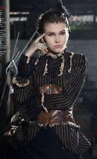 rq-bl steampunk stripe shirt sz L