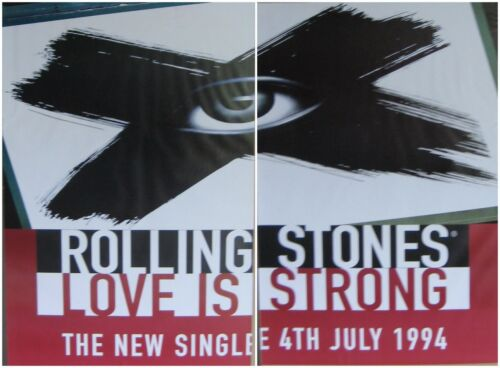 """2-PANEL 80X120"""" HUGE SUBWAY POSTERS~Rolling Stones 1994 Love Is Strong 2x 40x60"""""""