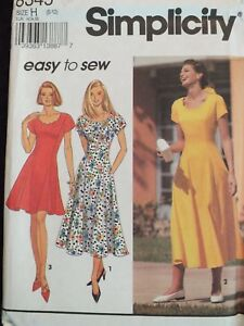 ad8f93584fad Lovely OOP SIMPLICITY 8234 MS Fit   Flared Dress in 2 lengths ...