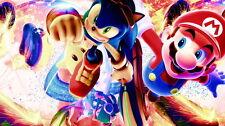 "01 Sonic - Game Art Cute Super Mario 25""x14"" Poster"