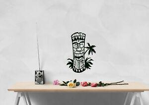 Diseno-de-inspiracion-Tiki-Polo-Hawaiano-Hogar-Decoracion-Pared-Arte-Calcomania-Vinilo-Sticker