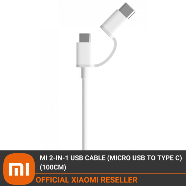 Xiaomi Mi 100cm 2in1 Fast Charging Data Cable USB to Micro USB and USB Type-C