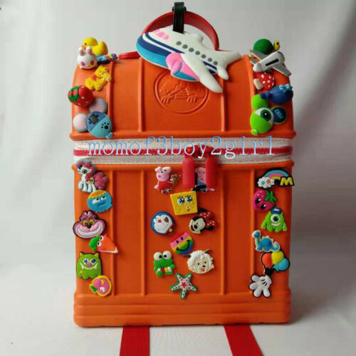 Kids Children Gift Croc Rucksack Jibbitz Backpack Boy Girl DIY Charms School Bag