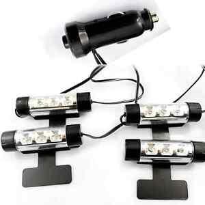 12v Cigarette Lighter Blue Auto Car Led Interior Footwell Light 12 Leds Lamp Ebay