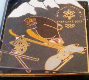Salt-Lake-Ciudad-2002-Juegos-Olimpicos-Mascotas-Todo-Sports-Pin-Coleccionable