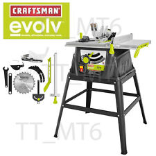 "Craftsman Evolv 15 Amp 10"" Table Saw with Stand + Accessories Garage Mechanic"
