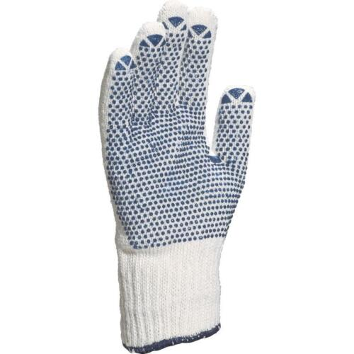 12 x Delta Plus TP169 Polyester Cotton Work Safety Gloves with PVC Dots on Palm